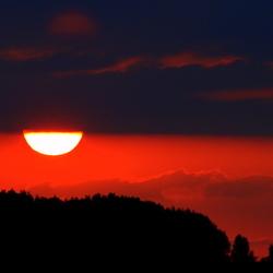 Het rode avondlicht
