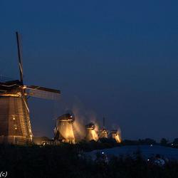 Kinderdijk by night 2016