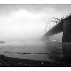 The misty river.