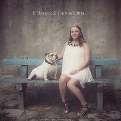 Met hond...