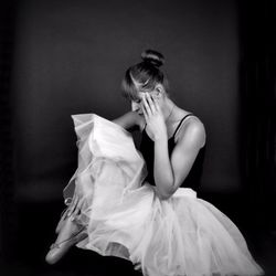 Elegant ballet pose
