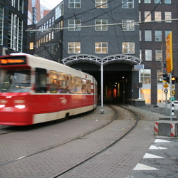 Tram in beweging