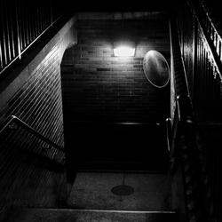 Stairway in the dark