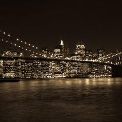 Brooklyn Bridge NYC zwart wit