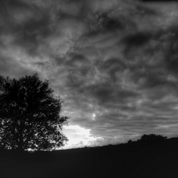 Posbank onder wolkendek