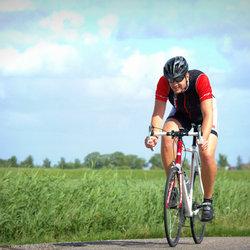Bikkelen op de fiets