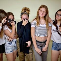 Jongen meiden.