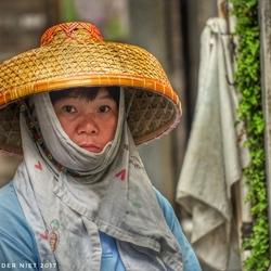 Chinese vrouw in Tai-O