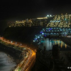 Puerto Rico seaview by night