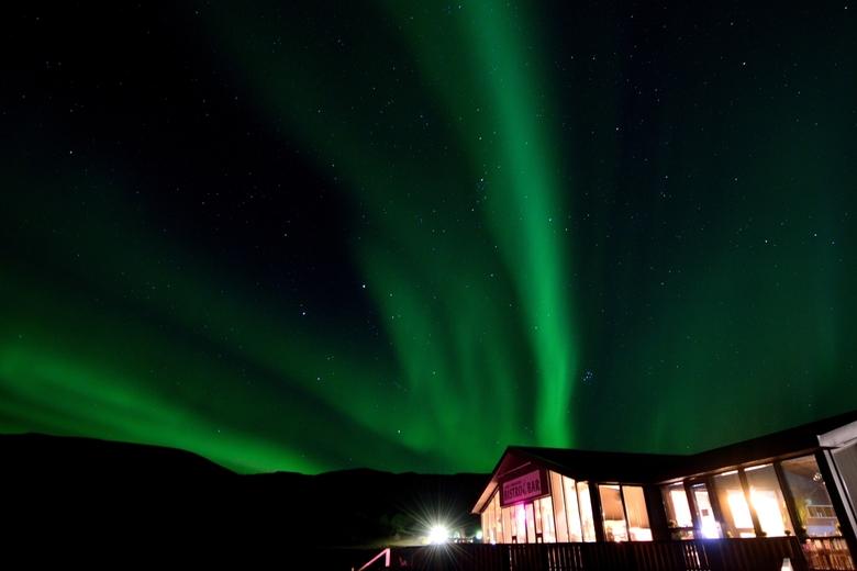 DSC_4832 - Noorderlicht in Skógafoss