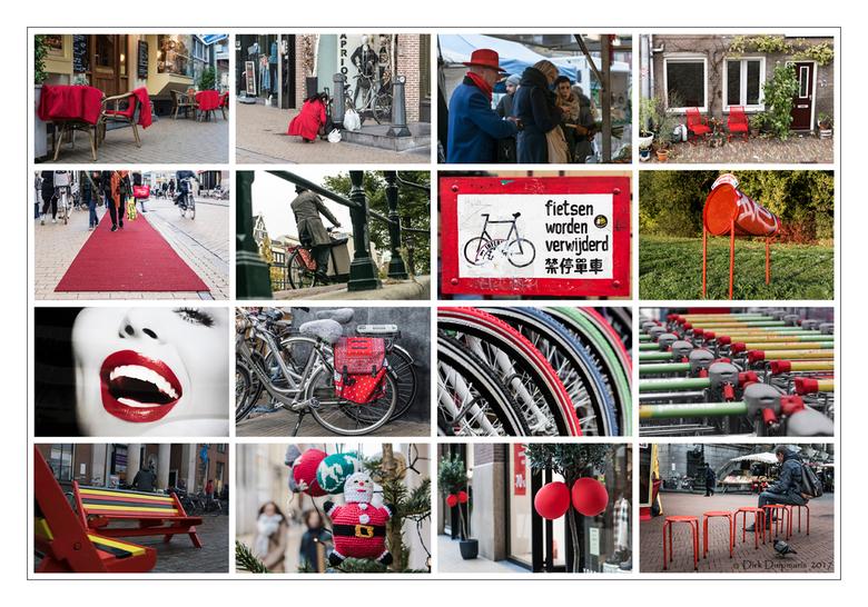 rood op straat