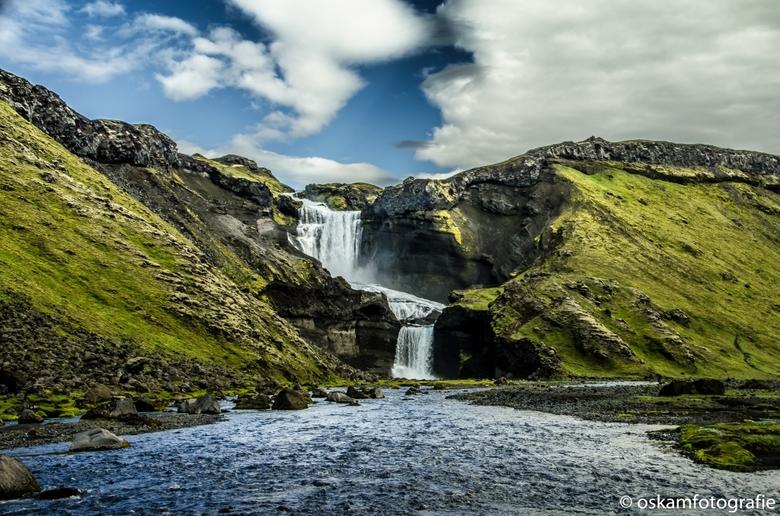 waterval bij vuurkloof Eldgja