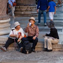 Japanse toeristen in Rome