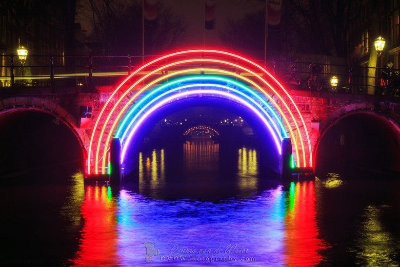 Amsterdam Rainbow - It's that time of the year again!<br /> <br /> The Amsterdam Light Festival is back in town and is always nice to see and photog