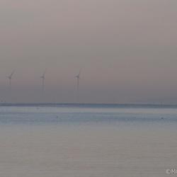 zonsopkomst aan het IJsselmeer
