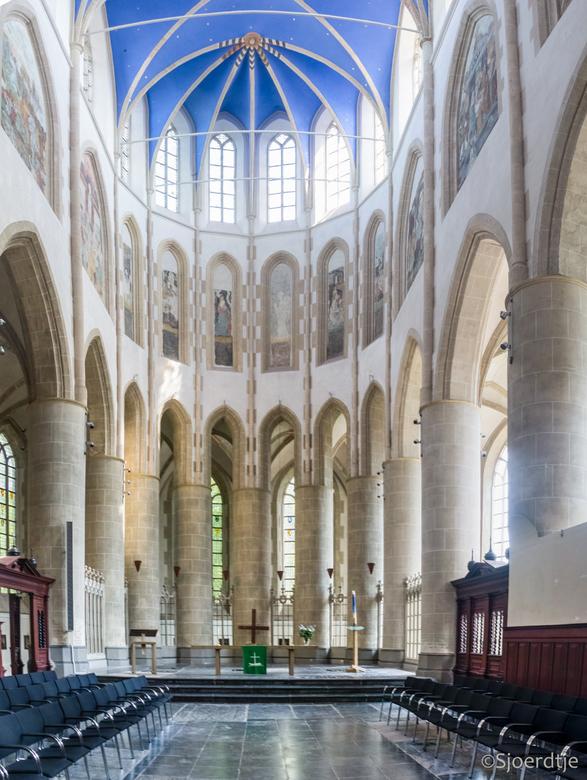 Interieur Martinikerk Groningen - Foto is een HDR en panorama. <br /> ISO 800, 16 mm,  F 5.6<br />