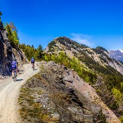 Fietstocht door de Alpen