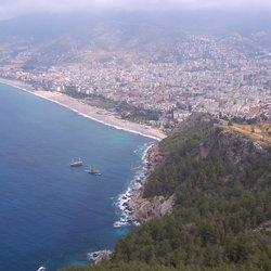 Een berg in Alanya
