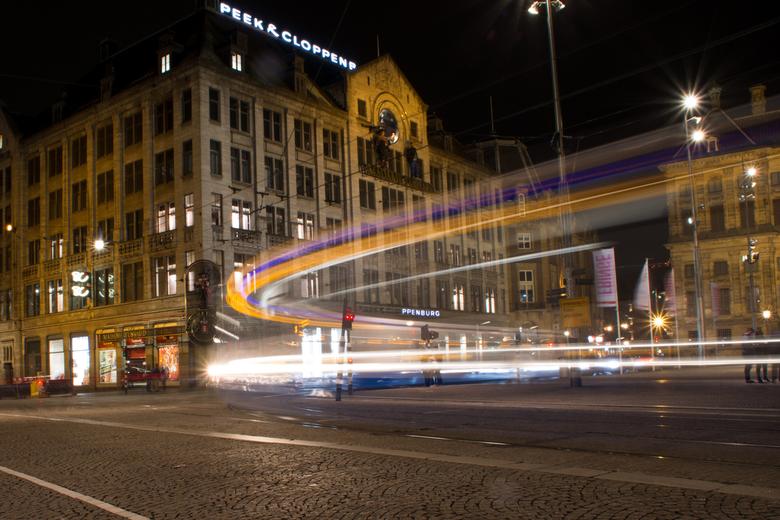 Amsterdam nachtfotografie - Nachtfotografie op de Dam