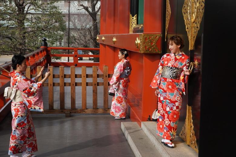 Kimono dames Japan - Sensō-ji tempel