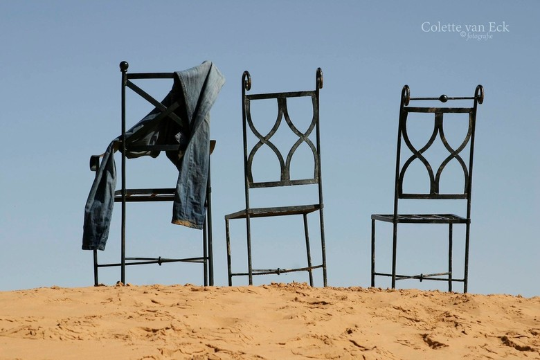 Chairs in the desert -