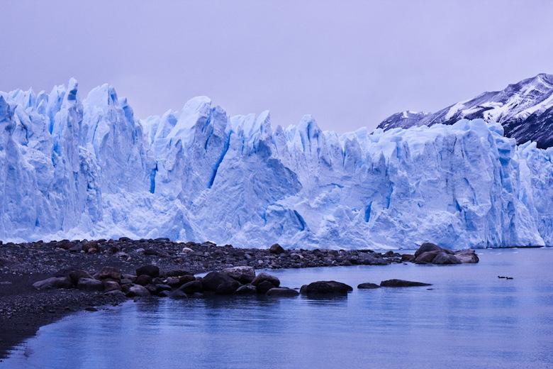 Gletsjer - Gletsjer Perito Moreno, in Patagonië.