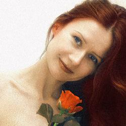 Kate portret met roos