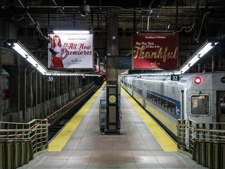 Eindstation - Grand central terminal in New York, maar op even andere manier dan gebruikelijk.