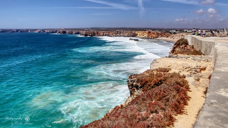 Algarve, Kustlijn bij het fort van Kaap Vincente - Met deze regenachtige dagen denk ik graag terug aan het zonnige Algarve aan de zuid/westkust van Po