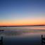 mooie kleuren na zonsondergang