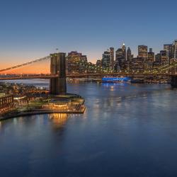 The bridge into the city