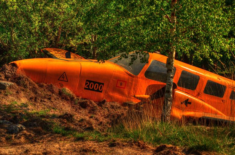 Crash landing. -