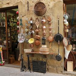 Italiaanse winkel van sinkel