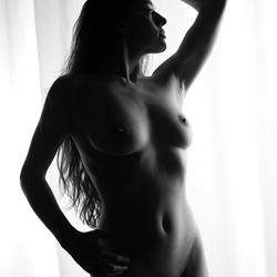 Artistic nude silhouet Joy