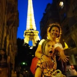 Ontmoeting met Eiffel bij nacht