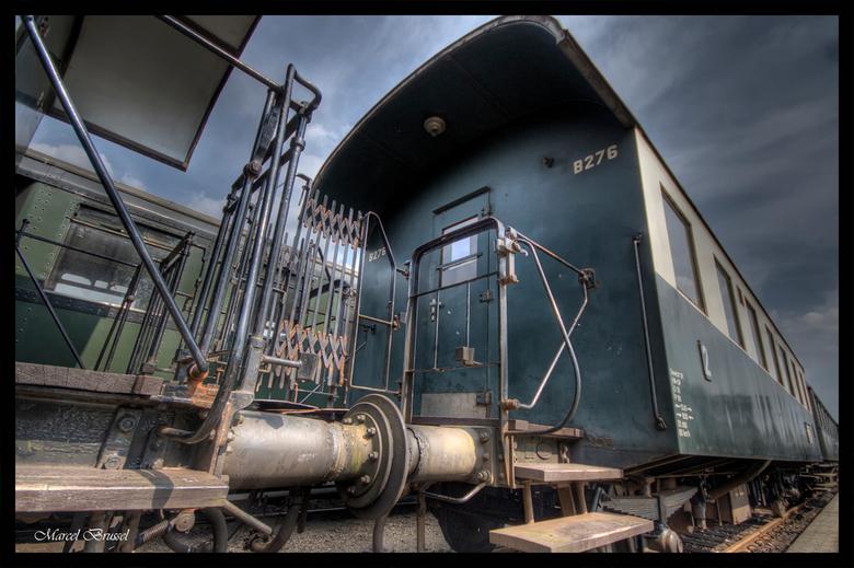 laatste trein - Deze heb ik vorig jaar nog eens genomen in het veluws stoomtrein museum.