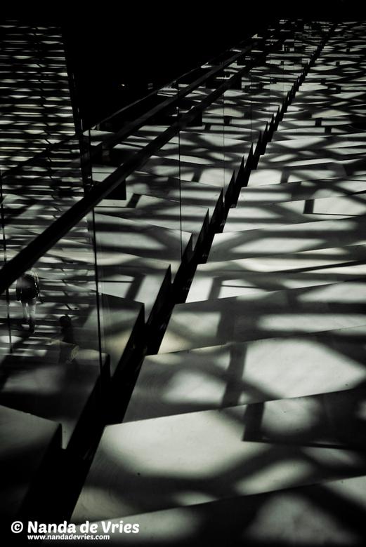 trappenhuis - in zwart-wit