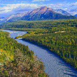 Glenn Highway uitzicht in Alaska
