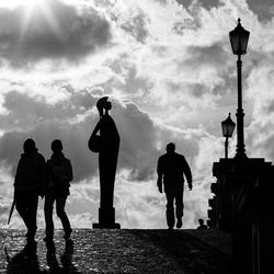 Straatfotografie silhouette Antwerpen