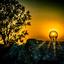 gloeiende zonsondergang