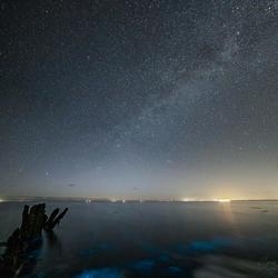 Melkweg en zeevonk