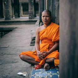 Boeddhistische Monnik in Angkor Wat