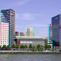Boompjes Rotterdam in hyper-anaglyph