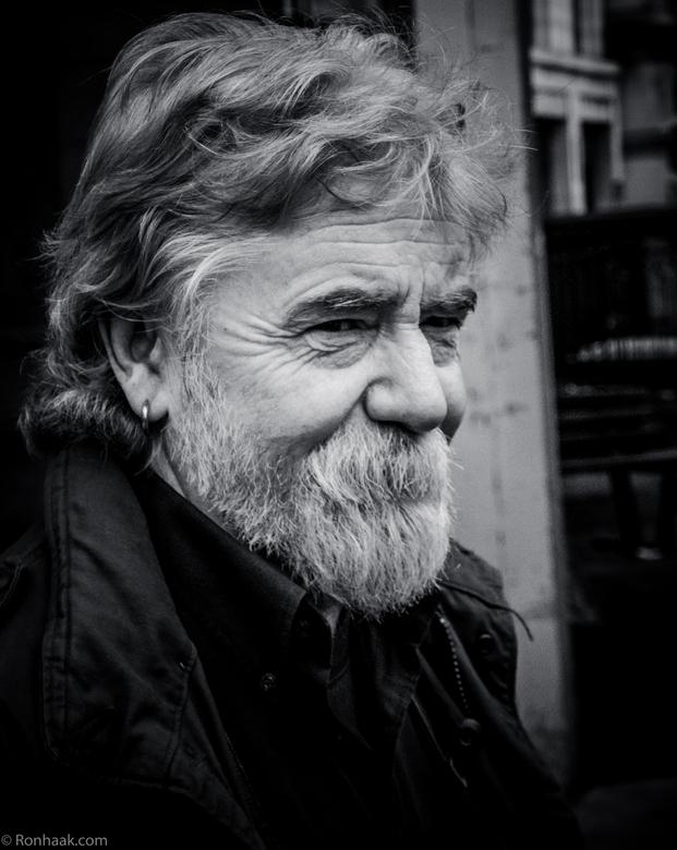 Irish moss ? - Nee het is gewoon de baard van deze vrolijke Dublinner.
