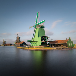 Hollandse molens van de Zaanse Schans