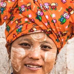 Woman Pa'O tribe Myanmar