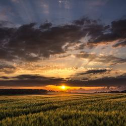 Leuvense zonsondergang