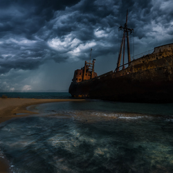 Ghost ship Greece