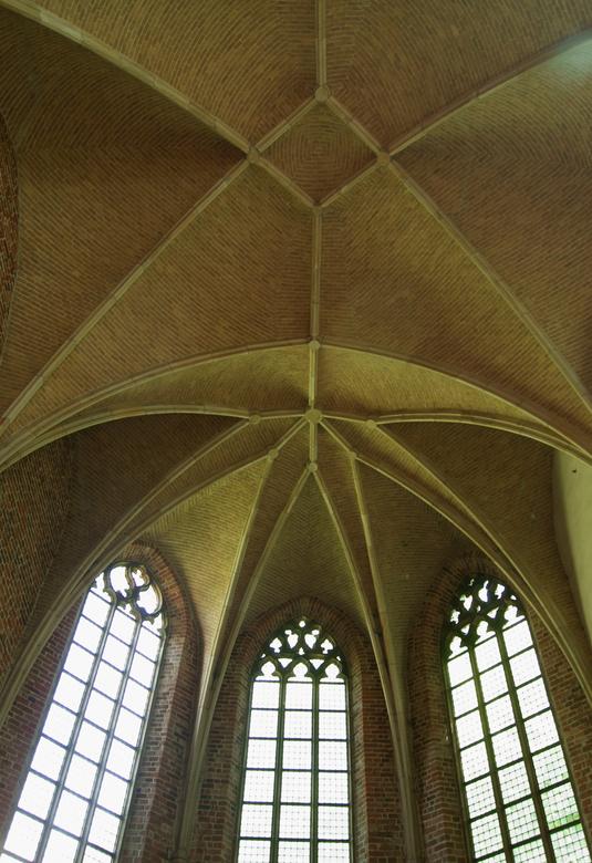 Klooster Ter Apel - Dak lijnen van het dak van de kapel van het klooster in Ter-Apel