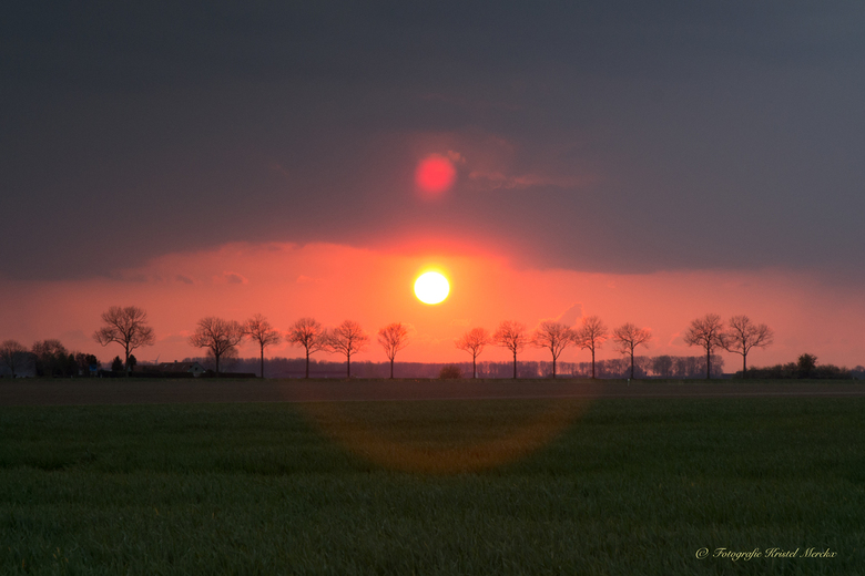 Zonsondergang Kuitaart bomen -